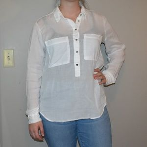 LOGG by H&M Long Sleeve White Blouse Sz 12